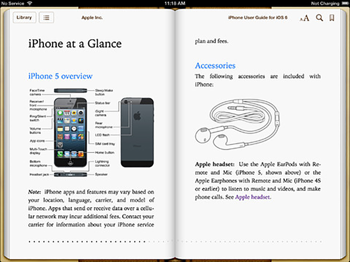 Manual del Phone 5 y iOS 6 en iBooks ya disponible